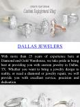 Jewelry store Dallas - Diamond and Gold Warehouse PowerPoint PPT Presentation