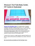 Shourya's Test Tube Baby Center, IVF Centre in Hyderabad PowerPoint PPT Presentation