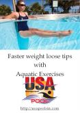 Faster weight loose tips with Aquatic Exercises PowerPoint PPT Presentation