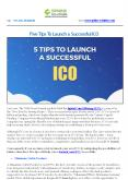 Five Tips To Launch A Successful ICO PowerPoint PPT Presentation