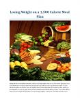 Losing Weight on a 1,500 Calorie Meal Plan PowerPoint PPT Presentation