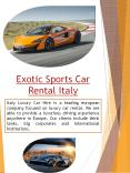 Luxury Car Rental Italy PowerPoint PPT Presentation