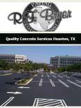 Quality Concrete Services Houston, TX PowerPoint PPT Presentation