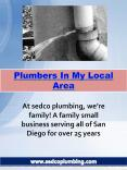 Plumbers In My Local Area PowerPoint PPT Presentation