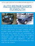 Auto Repair Shops Plymouth PowerPoint PPT Presentation