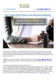 Top 10 Alexa Skills To Boost Your Business Productivity PowerPoint PPT Presentation