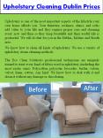 Upholstery Cleaning Dublin Prices PowerPoint PPT Presentation