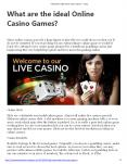 What are the ideal Online Casino Games? PowerPoint PPT Presentation