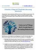 5 Internet of Things (IoT) Trends that is Becoming Mainstream PowerPoint PPT Presentation