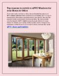 Top reasons to switch to uPVC Windows for your House & Office PowerPoint PPT Presentation
