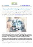 What can Blockchain Technology do for Cloud Storage? PowerPoint PPT Presentation