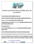 Chicken and pizza makes a healthy meal. Do you agree? PowerPoint PPT Presentation