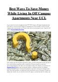 Best Ways To Save Money While Living In Off Campus Apartments NearUCI PowerPoint PPT Presentation