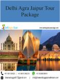 Delhi Agra Jaipur Tour Package By Car PowerPoint PPT Presentation