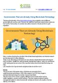 Governments That are Already Using Blockchain Technology PowerPoint PPT Presentation