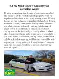 All You Need To Know About Driving Instructors Sydney PowerPoint PPT Presentation