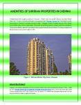 AMENITIES OF SHRIRAM PROPERTIES IN CHENNAI - SHRIRAM DIVINE CITY PowerPoint PPT Presentation