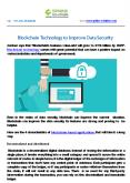 Blockchain Technology to Improve Data Security PowerPoint PPT Presentation