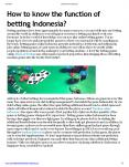 How to know the function of betting Indonesia? PowerPoint PPT Presentation