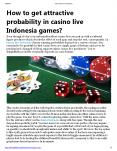 How to get attractive probability in casino live Indonesia games? PowerPoint PPT Presentation