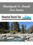Chandigarh To Manali Taxi Service PowerPoint PPT Presentation