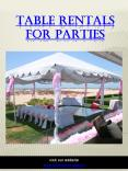 Table Rentals For Parties|https://shoretents.events/ PowerPoint PPT Presentation