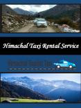 Himachal Taxi Rental Service PowerPoint PPT Presentation