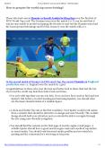 How to prepare for world cup soccer betting? PowerPoint PPT Presentation