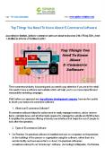 Top Things You Need To Know About E-Commerce Software PowerPoint PPT Presentation