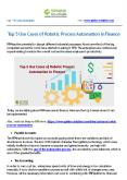 Top 5 Use Cases of Robotic Process Automation in Finance PowerPoint PPT Presentation