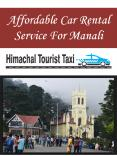Affordable Car Rental Service For Manali PowerPoint PPT Presentation