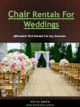 Chair Rentals For Weddings PowerPoint PPT Presentation