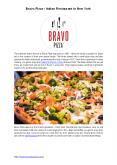 Bravo Pizza - Italian Restaurant in Midtown West NYC PowerPoint PPT Presentation