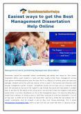Easiest ways to get the Best Management Dissertation Help Online PowerPoint PPT Presentation