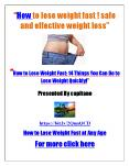 How to lose weight fast ! safe and effective weight loss -weight loss tips - how to lose belly fat PowerPoint PPT Presentation