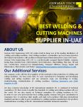 Best Welding & Cutting Machines Supplier in UAE PowerPoint PPT Presentation