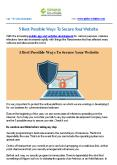 5 Best Possible Ways To Secure Your Website PowerPoint PPT Presentation