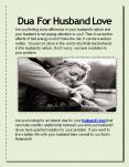Dua for Husband Love PowerPoint PPT Presentation