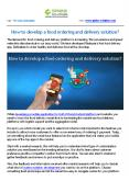How to develop a food ordering and delivery solution