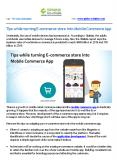 Tips while turning E-commerce store into Mobile Commerce App PowerPoint PPT Presentation