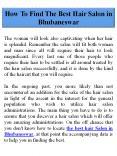 How To Find The Best Hair Salon in Bhubaneswar PowerPoint PPT Presentation