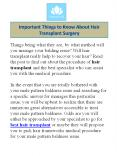 Important Things to Know About Hair Transplant Surgery PowerPoint PPT Presentation