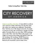 Sober Living New York City PowerPoint PPT Presentation