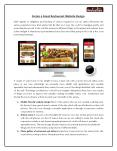 Create a Great Restaurant WebsiteDesign PowerPoint PPT Presentation