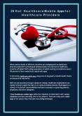 20 Hot Healthcare Mobile Apps For Healthcare Providers PowerPoint PPT Presentation