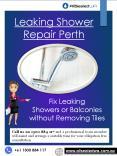 Leaking Shower Repair Perth (1) PowerPoint PPT Presentation