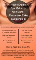 Apply Eye Make Up with Semi-Permanent Fake Eyelashes PowerPoint PPT Presentation