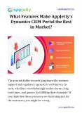 What Features Make AppJetty's Dynamics CRM Portal the Best in Market? PowerPoint PPT Presentation