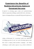 Benefits of Booking Advertising Agency PowerPoint PPT Presentation