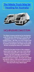 The Nikola Electric Truck May be Heading for Australia PowerPoint PPT Presentation